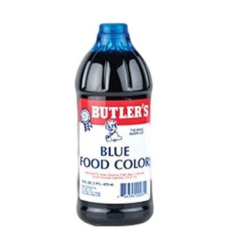 Butler's Best Blue Food Coloring, Bottle, 16 fl oz-Grocery-Helmet Don-Helmetdon