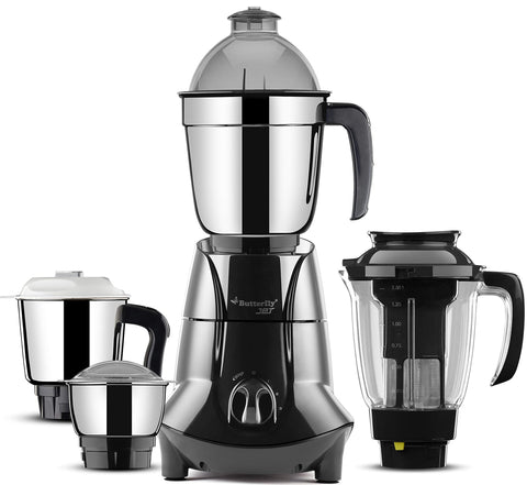 Butterfly Jet Elite 750-Watt Mixer Grinder with 4 Jars (Grey)-Kitchen-Butterfly-Helmetdon