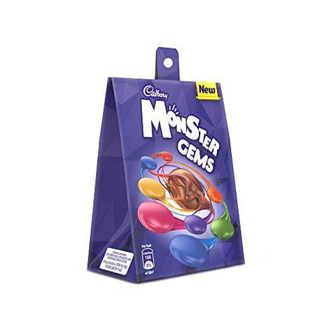 Cadbury Monster Gems Chocolate, 39.9 gm (Pack of 12)-Grocery-Cadbury-Helmetdon