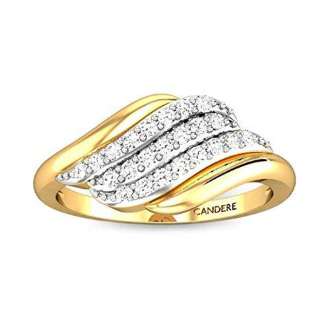 Candere By Kalyan Jewellers 18KT Yellow Gold and Diamond Ring for