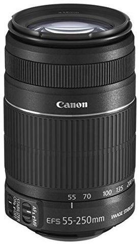 Canon EF-S 55-250mm f/4-5.6 IS II Telephoto Zoom Lens for DSLR Camera (Black)-CE-Canon-Helmetdon