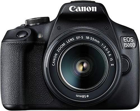 Canon EOS 1500D Digital SLR Camera (Black) with EF S18-55 is II Lens/Camera Case-CE-Canon-Helmetdon