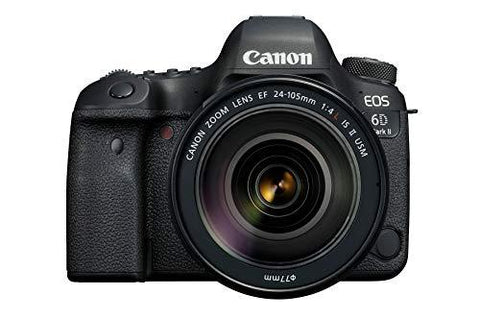 Canon EOS 6D Mark II 26.2MP Digital SLR Camera with EF24-105 mm f/4L is II USM Lens-CE-Canon-Helmetdon