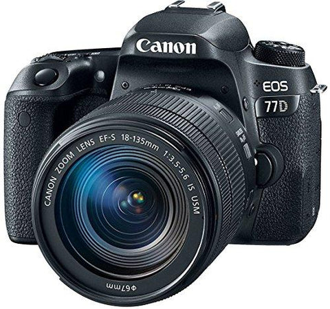 Canon EOS 77D 24.2MP Digital SLR Camera + EF-S 18-135 mm 3.5-5.6 is USM Lens-CE-Canon-Helmetdon