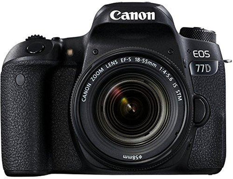 Canon EOS 77D 24.2MP Digital SLR Camera + EF-S 18-55 mm 4-5.6 is STM Lens/Camera Case-CE-Canon-Helmetdon