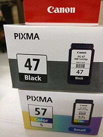 Canon PG-47 and CL-57s Ink Cartridge Combo for Pixma E-400 Printer (Black and Colour)-Personal Computer-Canon-Helmetdon