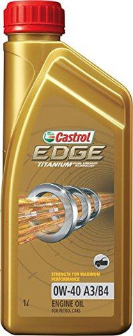 Castrol Edge 0W-40 API SN Fully Synthetic Engine Oil for Petrol Cars (1 L)-Automotive Parts and Accessories-Castrol-Helmetdon