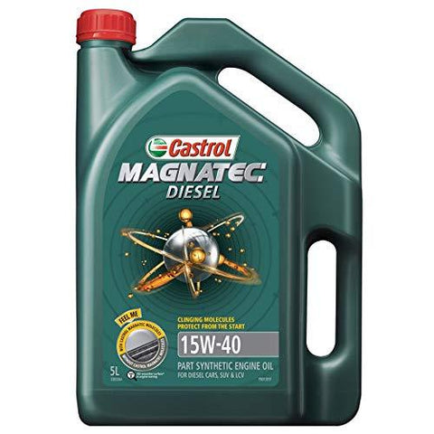 CASTROL MAGNATEC Diesel 15W40 3.5 LTRS Part Synthetic-Automotive Parts and Accessories-Castrol-Helmetdon