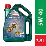 Castrol MAGNATEC SUV 5W-40 Full Synthetic Engine Oil for Petrol, CNG and Diesel SUVs (3.5L)-Automotive Parts and Accessories-Castrol-Helmetdon