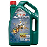 Castrol MAGNATEC SUV 5W-40 Full Synthetic Engine Oil for Petrol, CNG and Diesel SUVs (5L)-Automotive Parts and Accessories-Castrol-Helmetdon