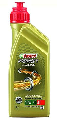 Castrol Power 1 Racing Engine Oil 10W-50 4T, 1L-Kitchen-Castrol-Helmetdon