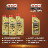Castrol POWER1 Cruise 4T 20W-50 Synthetic Engine Oil for Bikes (1.2L)-Automotive Parts and Accessories-Castrol-Helmetdon