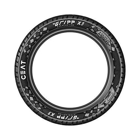 Ceat Gripp X3 Tt 2.75-18 48P Tube-Type Bike Tyre, Rear-Automotive Parts and Accessories-Ceat-Helmetdon