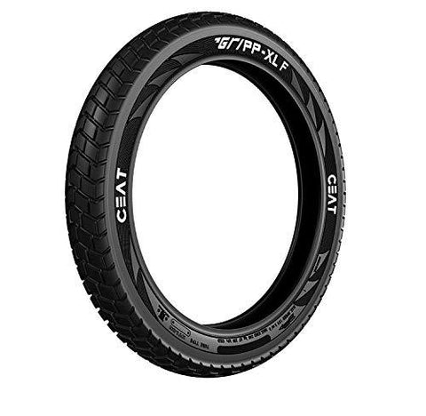 CEAT Gripp XL 120/80-18 Tube-type Bike Front Tyre, for Royal Enfield (Tube Included)-Automotive Parts and Accessories-Ceat-Helmetdon
