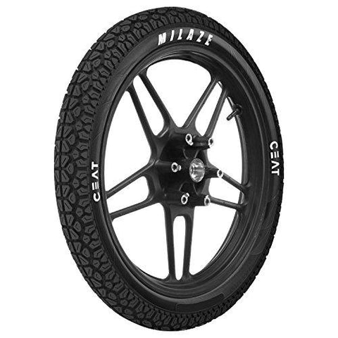 Ceat Milaze 3.00-18 52P Tubeless Bike Tyre, Rear (Home Delivery)-Automotive Parts and Accessories-Ceat-Helmetdon