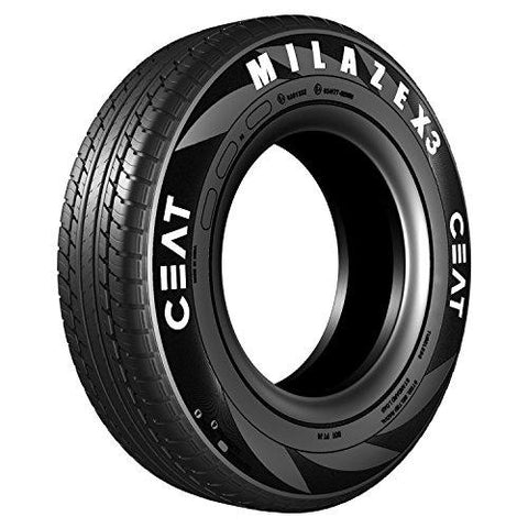 Ceat Milaze X3 165/80 R14 85S Tubeless Car Tyre (Home Delivery)-Automotive Parts and Accessories-Ceat-Helmetdon