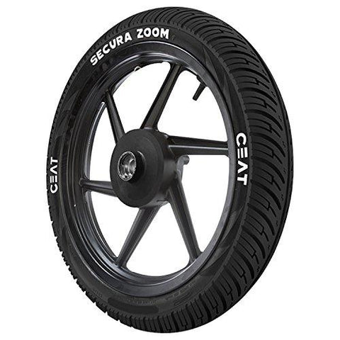 Ceat Secura Zoom 2.75-17 41P Tube-Type Bike Tyre, Front (Home Delivery)-Automotive Parts and Accessories-Ceat-Helmetdon