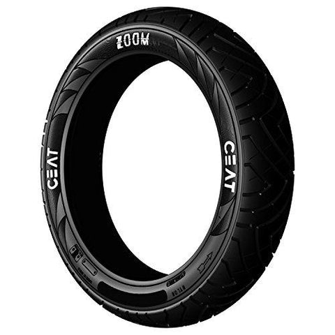 Ceat Zoom 100/90-17 55P Tubeless Bike Tyre, Rear (Home Delivery)-Automotive Parts and Accessories-Ceat-Helmetdon