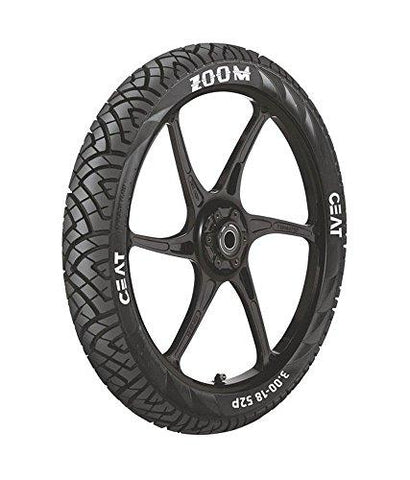 Ceat Zoom 100/90-17 Tubeless Bike Tyre, Rear (Home Delivery)-Automotive Parts and Accessories-Ceat-Helmetdon