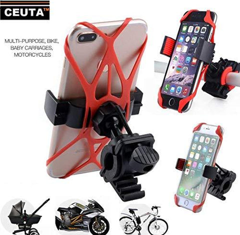 CEUTA, Bike Mount, Universal Adjustable Bicycle Cell Phone Holder Cradle Stand Motorcycle Rack Handlebar Smartphone GPS Navigation-CE-CEUTA-Helmetdon