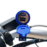 Ceuta Retails Motorcycle Handlebar Mount USB Charger Socket 2.1A 9V with USB Charging System for Mobile, Tablet, Portable Music Player and GPS-CE-Ceuta Retails-Helmetdon