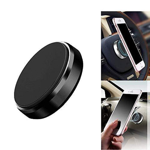Ceuta Retails ®, Universal Magnetic Car Mount - for Any Phone, GPS or Light Tablet Black Chrome One-Hand & One-Sec Dash Holder, 100 to Safeness & Comfort-CE-Ceuta Retails-Helmetdon