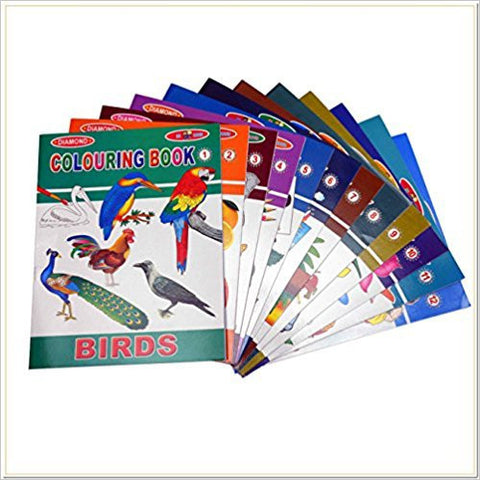 Colouring Books Set of 12-Books-TBHPD-Helmetdon