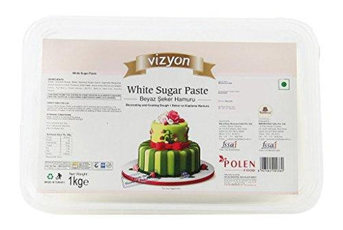 Creativities International. Vizyon Sugar Paste/Fondant (1 kg, White)-Lawn & Patio-Creativities International.-Helmetdon