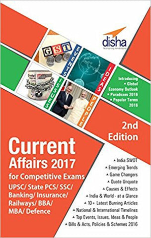 Current Affairs 2017 for Competitive Exams - UPSC/State PCS/SSC/Banking/Insurance/Railways/BBA/MBA/Defence-Books-TBHPD-Helmetdon