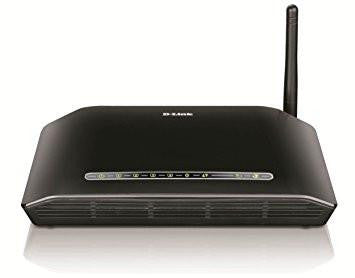 D-Link DSL-2730U Wireless N 150 ADSL2+ 4-Port Router (Black)-Computers and Accessories-D Link-Helmetdon