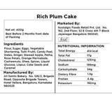 Delight Foods Christmas Special All Saints Rich Plum Cake (400 gm)-Grocery-Delight Foods-Helmetdon