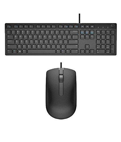 Dell USB Wired Keyboard & Mouse Combo(Black) KB216+MS116-Personal Computer-Dell-Helmetdon