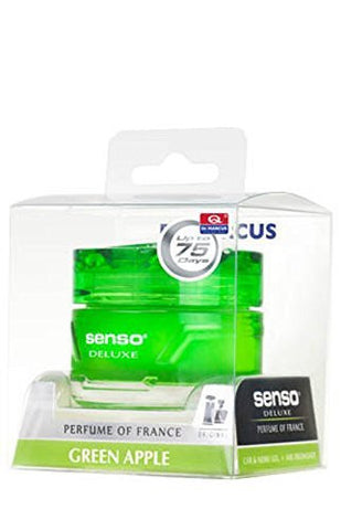 Dr.Marcus Senso Deluxe Apple Green Gel Perfume for Car (50 ml)-Car Perfume-Dr. Marcus-Helmetdon