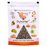Dry Fruit Hub Chia Seed Black Organic for Weight Loss White Seeds Omega 3 Eating Natural Raw - Pack of 500g-Grocery-DRY FRUIT HUB-Helmetdon