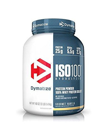 Dymatize Nutrition ISO 100-1.36078 kg (Vanilla)-Health and Beauty-Dymatize Nutrition-Helmetdon