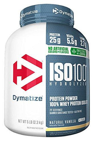 Dymatize Nutrition ISO 100 Whey Protein Powder Isolate - 2.3 kg (Natural Vanilla)-Health and Beauty-Dymatize Nutrition-Helmetdon