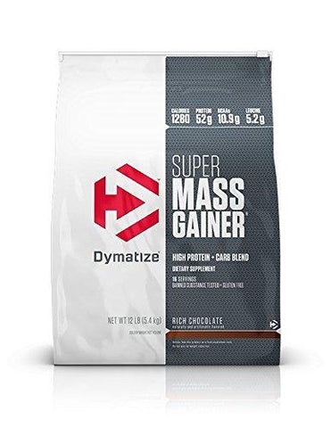 Dymatize Super Mass Gainer - 5.4 kg (Rich Chocolate)-Health and Beauty-Dymatize-Helmetdon