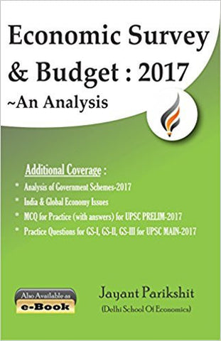 Economic Survey and Budget 2017 ~ An Analysis (First Edition, 2017)-Books-TBHPD-Helmetdon