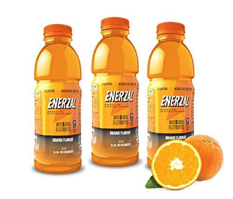 Enerzal Energy Drink Orange Flavour Pack of 3 (Liquid) - 500ml-Grocery-Enerzal-Helmetdon