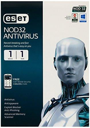 ESET NOD32 Antivirus 1 PC, 1 Year CD-Computers and Accessories-Eset-Helmetdon