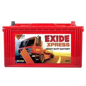 EXIDE BATTERTS IN RED COLOUR XP 1000-Automotive Parts and Accessories-Exide-Helmetdon