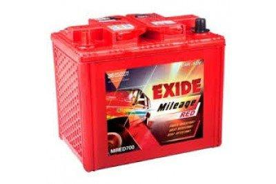 EXIDE BATTERYS IN RED COLOUR M Red 700R-Automotive Parts and Accessories-Exide-Helmetdon