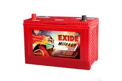 EXIDE BATTERYS IN RED COLOUR M Red 75 D23 L-Automotive Parts and Accessories-Exide-Helmetdon