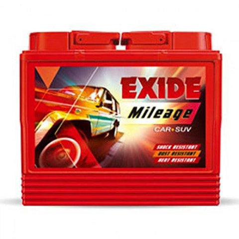 EXIDE BATTERYS IN RED COLOUR M Red din50-Automotive Parts and Accessories-Exide-Helmetdon