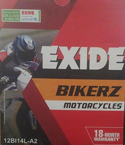 Exide bikerz BI14L-A2-Automotive Parts and Accessories-Exide-Helmetdon