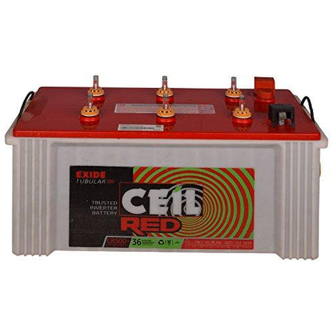 Exide Ceil Red Tubular Battery 150Ah/12V (White & Red)-Automotive Parts and Accessories-Exide-Helmetdon