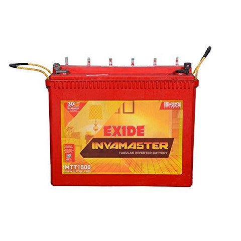 Exide Inva Master Tubular Battery 150Ah/12V (White & Red)-Automotive Parts and Accessories-Exide-Helmetdon