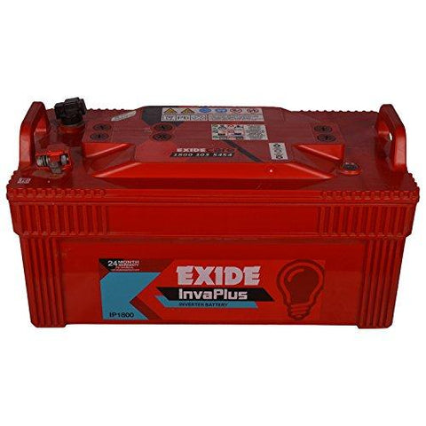 Exide Inva Plus Plastic and Lead Acid 180Ah/12V Battery (Red)-Automotive Parts and Accessories-Exide-Helmetdon