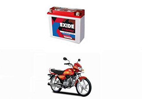 Exide Speedwav Exide Xtreme 12XR2.5L-C 2.5AH Bike Battery-Hero CD Deluxe-Automotive Parts and Accessories-Exide Speedwav-Helmetdon