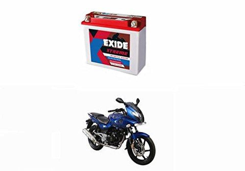 Exide Xtreme 12XR9-B 9AH Bike Battery Bajaj Pulsar 220 Fi DTS-i-Automotive Parts and Accessories-Exide-Helmetdon